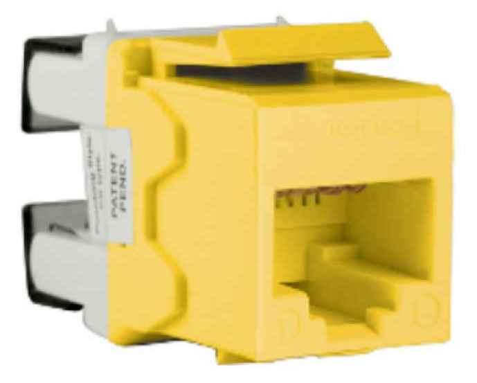 Schneider Modular Jack Yellow